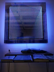 LED coffrage carré cube : multicouleur