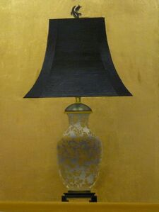 Lamp II (Gold and White Floral Base)