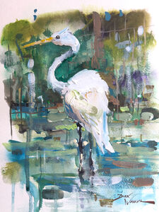 White Egret in Clear Creek