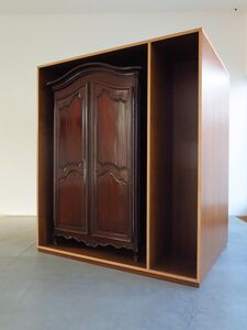 Untitled (French walnut armoire, Cuban mahogany armoire)