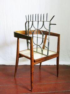 """Design da Turbação - Ofendículo Cobogó  para cadeira """"U""""do Joaquim Tenreiro [Design of Disturbance - """"Cobogó"""" barrier to """"U"""" chair by Joaquim Tenreiro]"""