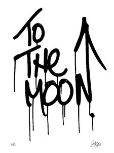 To The Moon Krink Mop Print