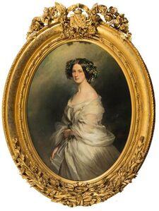 A Portrait of a Lady (thought to be Therese Freifrau Von Bethmann, nee Freiin Vrints V Treuenfeld)