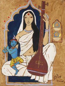 Untitled (Mirabai with Krishna)