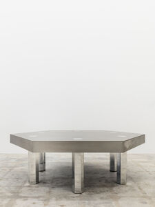 Hex, Titanium Blue Table