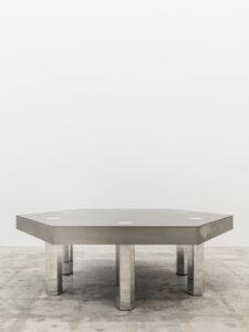 Hex, Titanium Blue Table