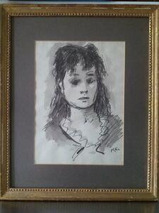Beautiful Woman watercolor painting by Robert Philipp