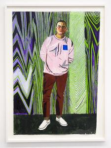 Edgar, 2017 oil on paper 129,5 x 91,4 cm / 51 x 36 in