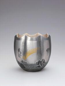 "Silver Vase ""Bakufu (Waterfall)"""