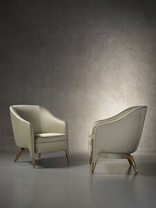 Rare and important pair of prototype armchairs mod. 593