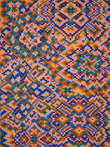 Orange/Blue Grid #1