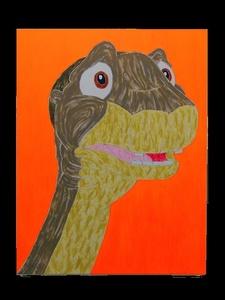 Dinosaur Painting (orange)