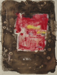 Untitled (Abstraction in Red and Brown)