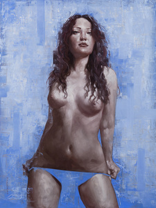 Portrait of Stephie on Blue