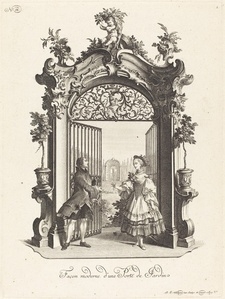 Façon moderne d'une Porte de Jardin (A Garden Door in the Modern Style)