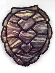 Wampum turtle shell