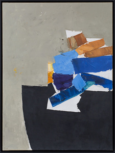 Composition in Blue and Black