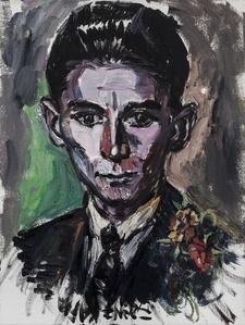 Discoloration of Franz Kafka