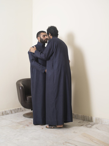 Two Men Greeting