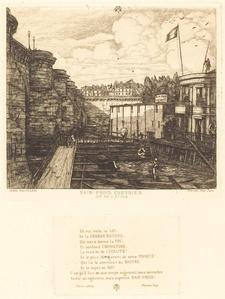 """Bain-froid chevrier, dit """"de l'École"""" (Chevrier's Cold-Bath Establishment, Sometimes called the """"School-Baths"""")"""