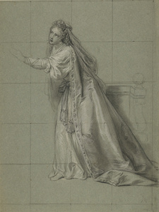 Study of a Woman (Rodugune) Turned toward the Left