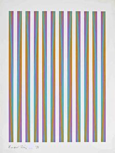 """Op Art Silkscreen for The Chicago 8 from the Portfolio """"Conspiracy: the Artist as Witness"""" (Schubert, 15)"""