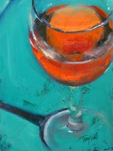 Turquoise Blush (wine study)