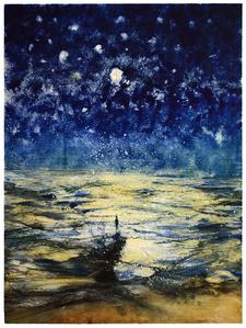 Stars and Sea at Night XVII