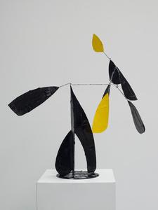 Composition noir et jaune