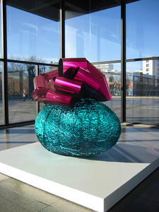 Baroque Egg with Bow (Turquoise/Magenta)