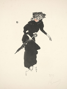 Woman with an Umbrella (Femme au parapluie) from Album de la Revue Blanche