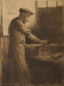 Chez Delâtre (Auguste Delâtre au travail)
