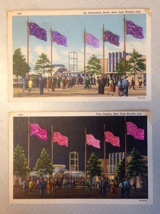 Untitled (Pink & Purple Flags)