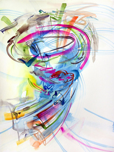 Poet Painting (Whirl)