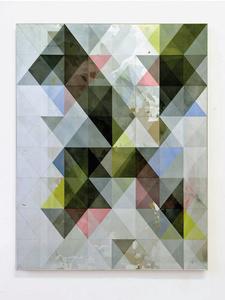 o.T. (sa 735.950.1.15), acrylic on hdf, 95 x 73,5 cm