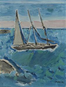 Sail Boat and Sea, Maine