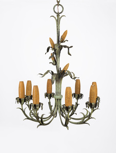 Corn Cob Chandelier for Iowa Corn Room