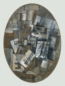 Still life with glass and newspaper (Le Gueridon)