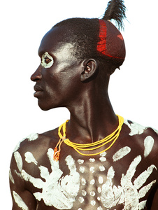 Karo Man with Handprint Motif, Ethiopia