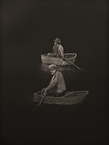 Men in Boats at Night