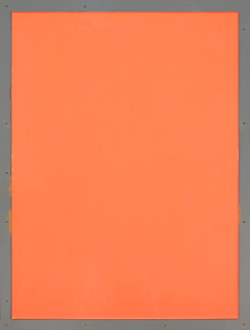 from series Out of imperfection: Orange on gray