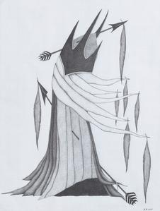 Fool's Headdress (drawing)