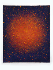 Untitled (Orange-Red Sun on Blue)