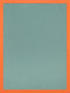 from series Out of imperfection: Pale blue on orange
