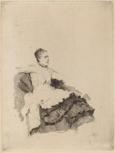 """Portrait of Madame de Nittis (""""Attenzione"""")"""