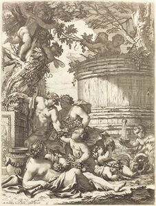 Putti with Grapes and a Seated Bacchante