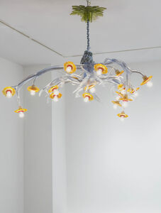 Chandelier (Fallow Deer, Red Stag, and Sunflower)