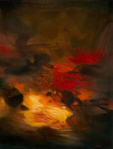 Composition à fond rouge (Red background composition)