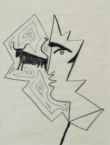 Profile of a Man with a Bull