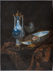 Still life with Ewer and Basin, fruit, Nautilus Cup and other object